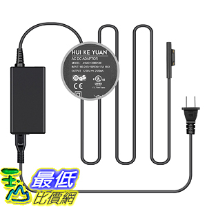 [107美國直購] 充電器 [UL Listed] Surface Pro 5/4/3 Charger,TFDirect 12V 2.58A Power Supply Adapter
