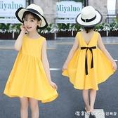 女童洋裝夏裝2021新款夏天洋氣女孩兒童夏款韓版大童裝公主裙子 美眉新品