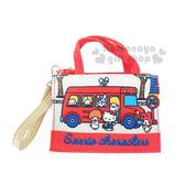 〔小禮堂〕Sanrio大集合 票夾零錢包《紅巴士.多角色》Sanrio70年代人物系列 4573133-61537