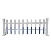 悠酷圍牆護欄柵欄圍欄室外PVC塑鋼護欄戶外別墅花園庭院欄桿籬笆雙十二全館免運