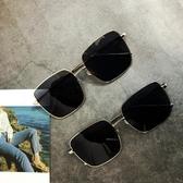韓版潮港風太陽鏡新款沙灘方形黑色墨鏡女原宿復古太陽鏡網紅街拍