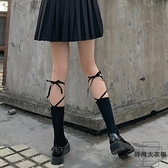 2雙裝 綁帶襪子女交叉中筒襪日系小腿襪綁腿潮薄款【時尚大衣櫥】
