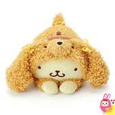Hamee 日本正版 三麗鷗 超柔軟 貴賓狗造型 趴姿絨毛娃娃 玩偶 抱枕 (布丁狗) 058793