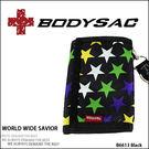 Colorful 機能性 潮流三折皮夾 (附背帶/手機吊繩) 星星圖案 AMINAH~【BODYSAC B6613】