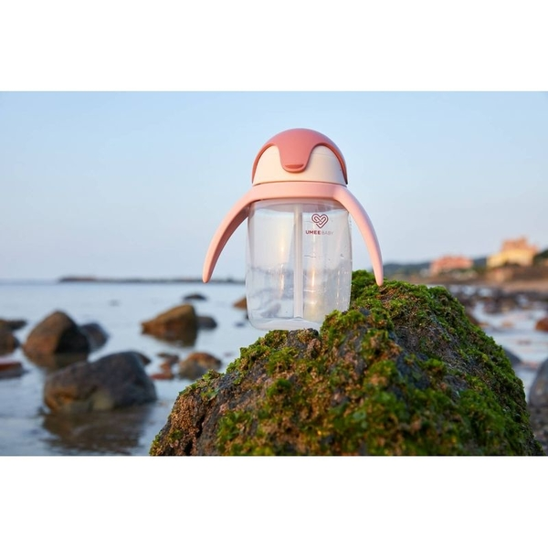 荷蘭 Umee 優酷企鵝杯-淺粉色(240ml)[衛立兒生活館]