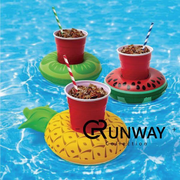【24H】歐美 充氣 甜甜圈 火烈鳥 夏日 繽紛 手機座 水上 可樂杯座 飲料杯座 兒童 玩具 造型 游泳圈