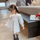 女童連衣裙童裝女童裝長袖連衣裙2020新款兒童小清新公主裙寶寶洋氣棉布裙