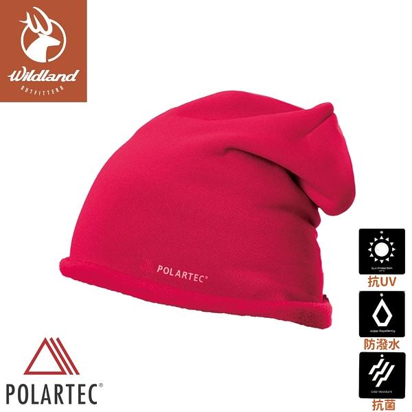 【Wildland 荒野 中性 Polartec PSP 彈性保暖帽《玫瑰紅》】P2025/針織帽/毛帽/登山滑雪/休閒帽