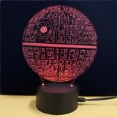 星球大戰新奇特創意禮品3D七彩變色小夜燈LED觸摸插電式裝飾臺燈