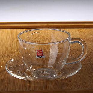 玻璃杯子帶托