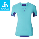 【ODLO 瑞士 女款 瓷感抗UV圓領短T《極光藍/藍》】160111/排汗衣/運動短袖/休閒上衣