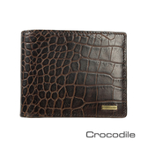 Crocodile Croco 義大利植物鞣製皮 鱷魚壓紋短夾 0103-5005