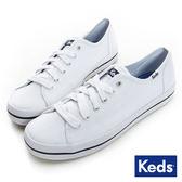 KEDS 綁帶休閒小白鞋 帆布鞋 W130035 女鞋