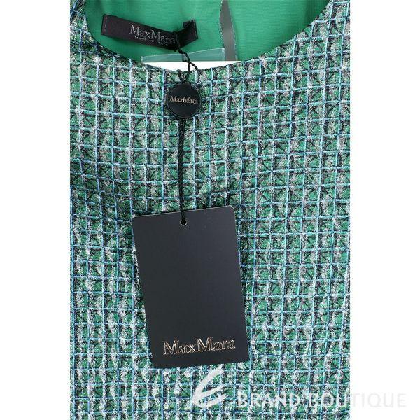 Max Mara 綠色網格挺版無袖上衣 1630033-08