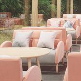 奶茶店甜品烘培店沙發卡座雙人沙發簡約現代咖啡廳洽談休閒沙發【非凡】