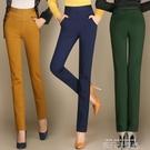2020春夏新款女式直筒褲子女垂感顯瘦中年高腰女褲長褲休閒褲彈力 依凡卡時尚