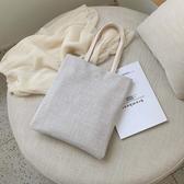 帆布包 仙女包包夏韓國帆布手提購物袋清新夏天托特包少女側背包 夢藝家