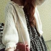 特賣鏤空針織衫薄針織開衫秋季新款韓版外搭披肩短款鏤空外套毛衣女寬鬆外穿