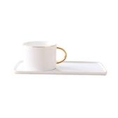 北歐風金邊咖啡杯套組-白色