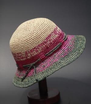 日本夏季草帽女士彩色拉菲草草帽鉤針圓頂平簷禮帽 遮陽帽子出遊   -396400122