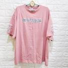 棒棒糖童裝(C9602)女裝粉色貼布字母休閒上衣