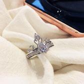 戒指 皇冠潮冷淡風食指戒對戒可拼接可調節女時尚個性輕奢尾戒