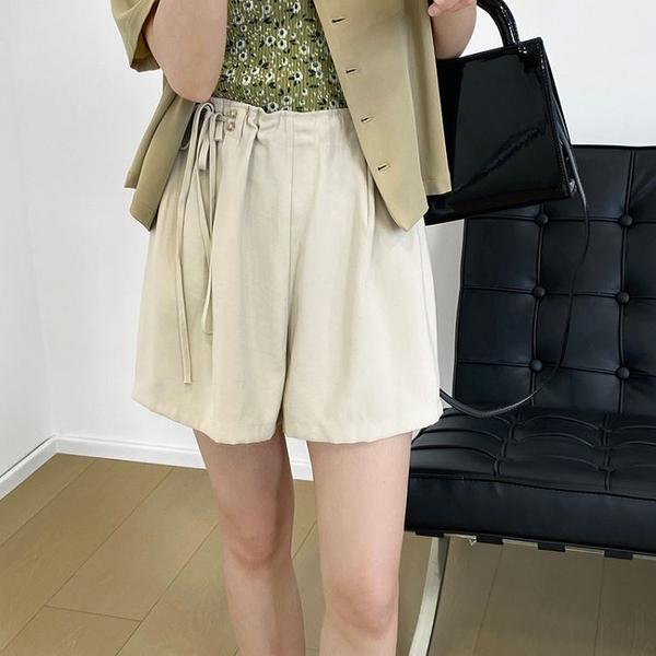 夏季設計感綁帶高腰短褲韓版【82-17-85166-21】ibella 艾貝拉