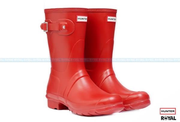 Hunter Boots 新竹皇家 Original Short Classic 紅色 霧面 中長靴 女款 NO.I7152