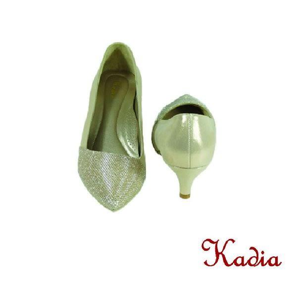 本週下殺★2016新品★kadia. 雅緻亮面尖頭高跟鞋(金色)