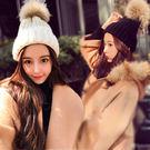 真貉子毛大毛球毛帽/毛線帽子/針織帽 14色【E297270】