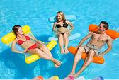 水上充氣吊床沙發浮床可折疊夏季靠背浮排水上躺椅泳池派對