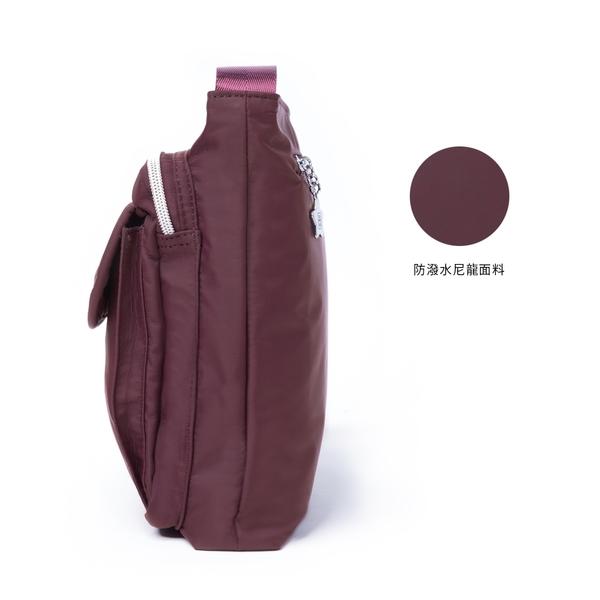 金安德森  城市酷玩 前袋翻蓋斜側包 酒紅