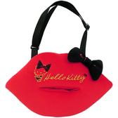 【享夢城堡】HELLO KITTY 紅唇系列-面紙盒掛袋