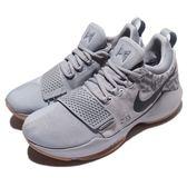Nike 籃球鞋 PG 1 EP OKC Baseline 灰 咖啡 Paul George 低筒 運動鞋 男鞋【PUMP306】 878628-009