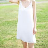 中長款雪紡女外穿夏季胖mm妹妹大碼寬松內搭襯打底裙 GB3944『樂愛居家館』