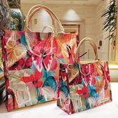 購物袋手提旅行收納防水便攜小包防水包女折疊【極簡生活館】