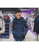 【蟹老闆】SUPERDRY  男風衣外套立領 內白色 外深藍 新款