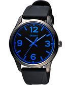 ORIENT 東方 運動玩家大數字腕錶-黑x藍時標/43mm FQC0U006B