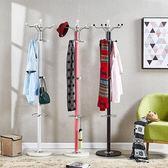 衣帽架臥室掛衣架落地衣服架子家用簡易衣架單桿歐式掛包架多功能
