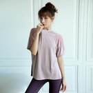 運動上衣 速乾衣女寬鬆顯瘦跑步罩衫健身服運動t恤短袖夏季薄瑜伽上衣-Ballet朵朵