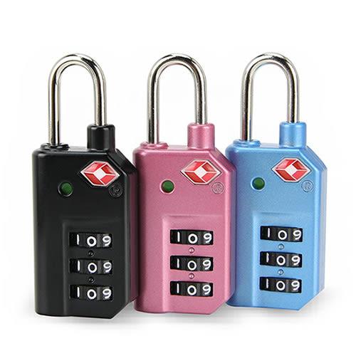 出遊好幫手 旅遊用品首選 台灣製 國際TSA海關鎖 掛式旅行箱密碼鎖-藍色