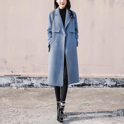 外套2020新款韓版寬鬆呢子外套女雙面呢中長款秋冬流行咖色呢大衣17 町目家