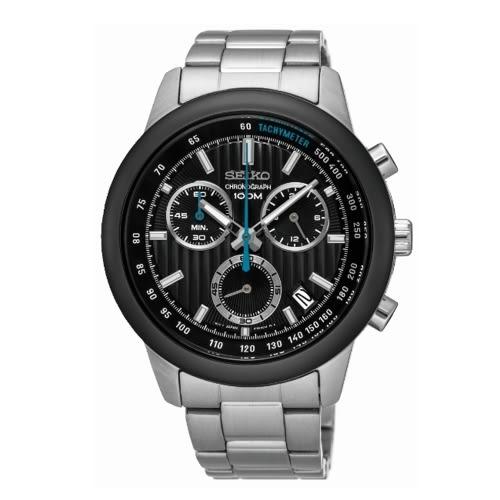 SEIKO CS線條時尚計時腕錶 /8T68-00A0K/SSB217P1