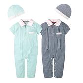 歐洲王子連身衣 爬服 哈衣 古典 男寶寶 附帽子 2件套 Augelute Baby 60182