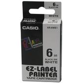 【奇奇文具】卡西歐CASIO XR-6WE1 6mm×8M 白底黑字 標籤帶