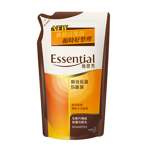 逸萱秀 瞬效保濕防斷裂洗髮乳補充包550ML【花王旗艦館】