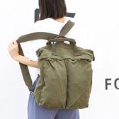 後背包 素色 雙肩包 做舊 帆布包 多功能 斜背包-手提包/後背包/側背包【AL386】 ENTER  04/25