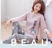 韓版秋季睡衣女純棉長袖甜美可愛夏天薄款可外穿家居服兩件套裝