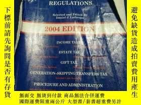二手書博民逛書店SELECTED罕見FEDERAL TAXATION STATUTES AND REGULATIONS 2004