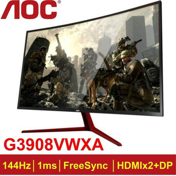 AOC 39型VA曲面極速電競螢幕(G3908VWXA)